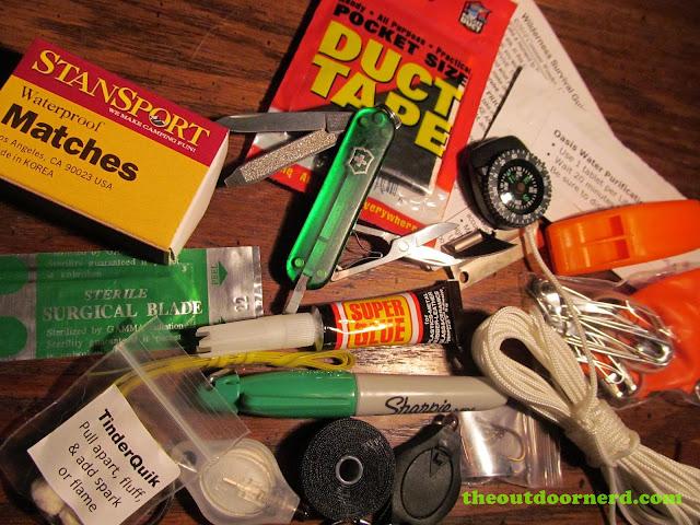 Glovebox Survival Kit showing used Victorinox pocket knife
