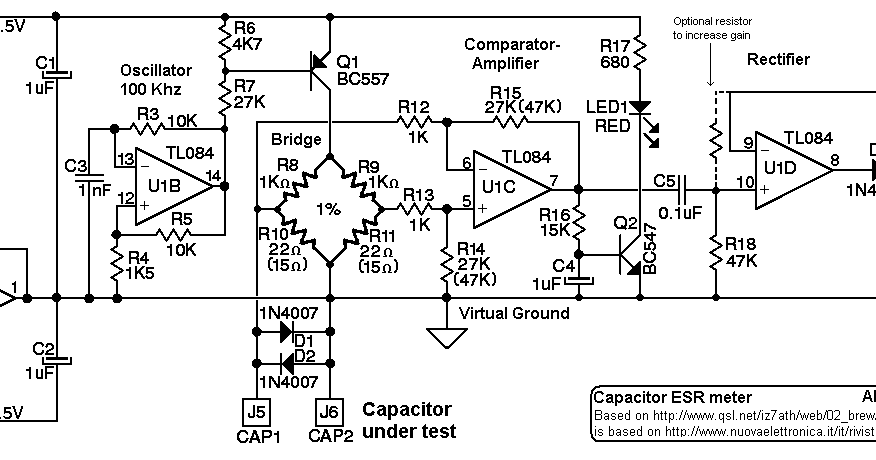 electronics etc                          esr meter schematic