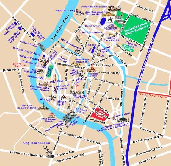 street map bangkok