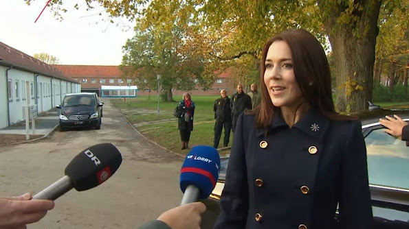 Crown Princess Mary of Denmark attends opening of the KFUM Soldier' housing for veteran families in Birkerød