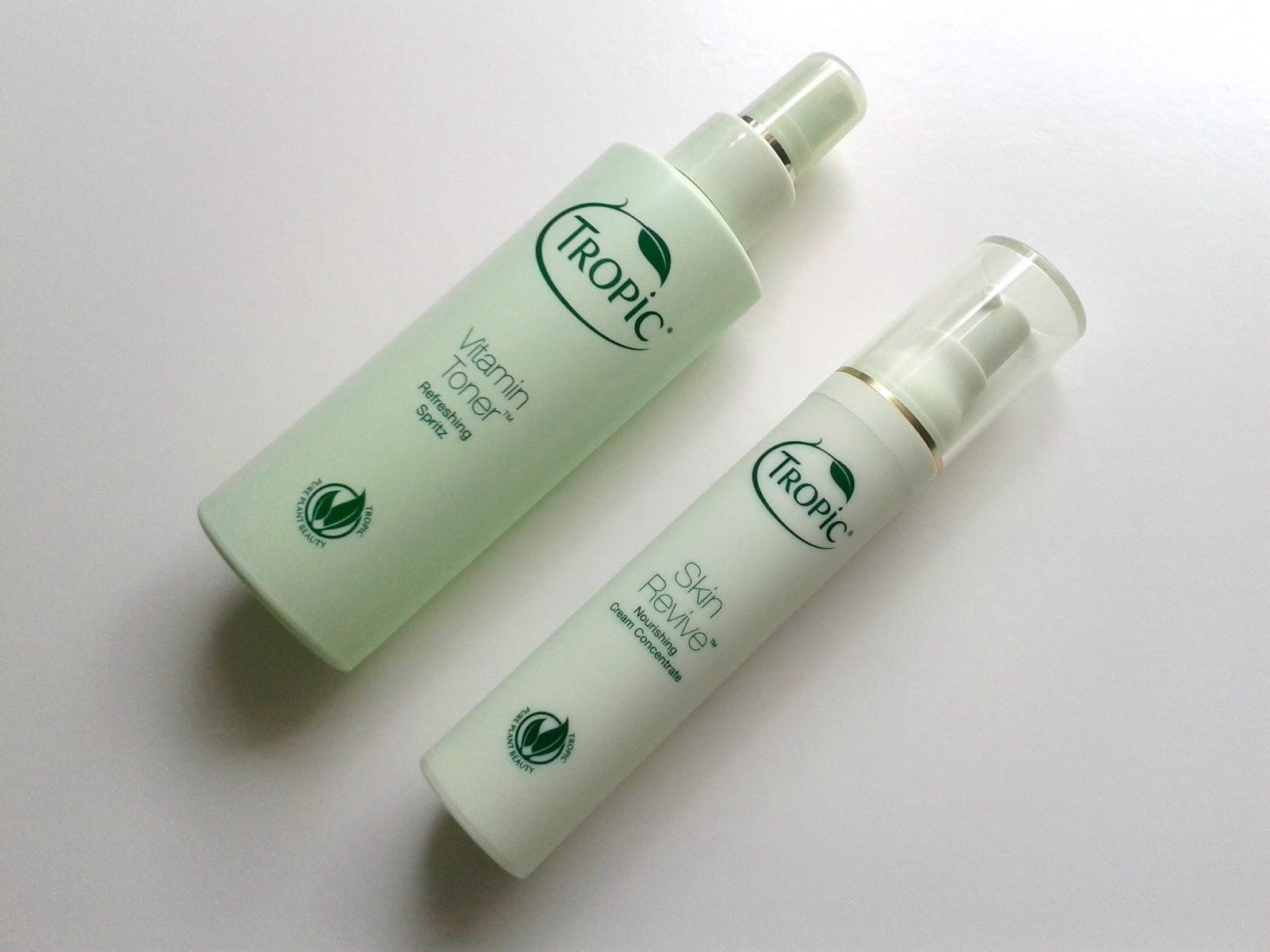 Tropic Skin Revive Firming Nourishing Cream Tropic Vitamin Toner Skincare Beauty Review