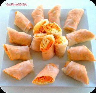 image-Rouleaux de printemps : carotte-chou-curry-cacahuètes