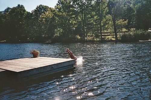 summer lake fishing trip