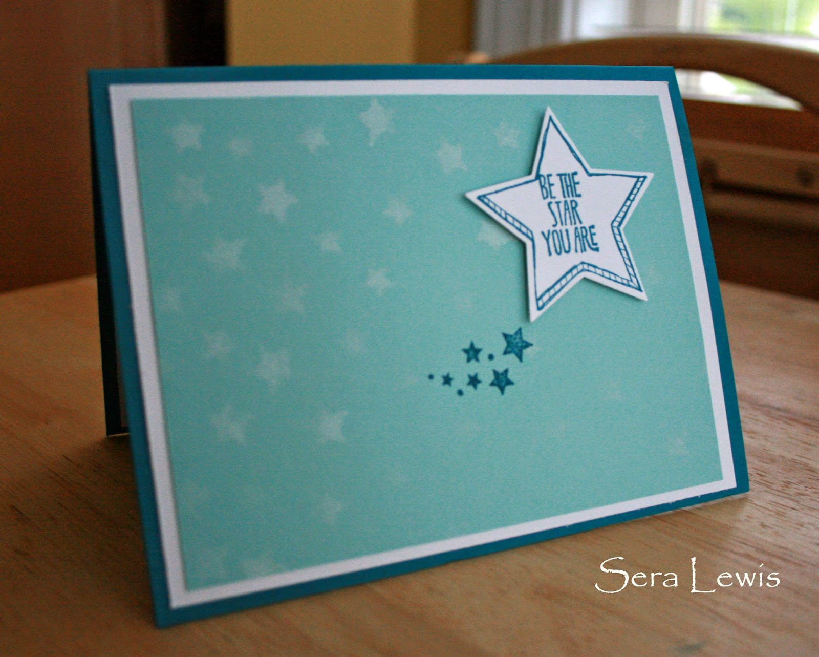 This card on Pink Paper Bakery uses the Stampin' Up! Be the Star set with stars framelits.