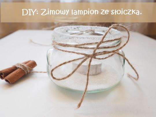 37. DIY. Zimowy lampion ze słoiczka.