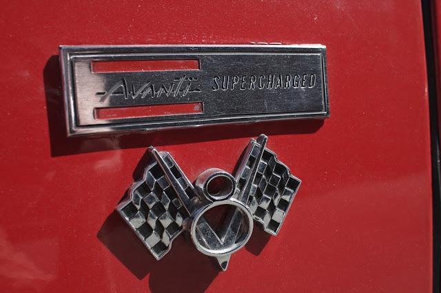 1963 Studebaker Lark Daytona Avanti V8 badge