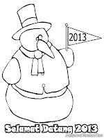 Mewarnai Gambar Tahun Baru 2013