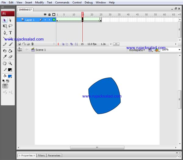 Creating Shape Tween On Adobe Flash