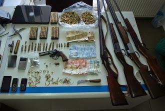 Συνελήφθησαν δύο άτομα για παράνομη κατοχή όπλων στη Λακωνία (φώτο)