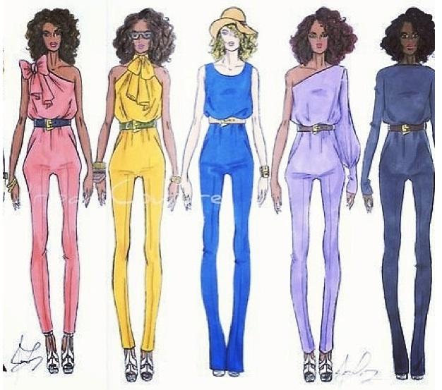 jerron couture jumpsuits fashion design illustrations fashion illustrator