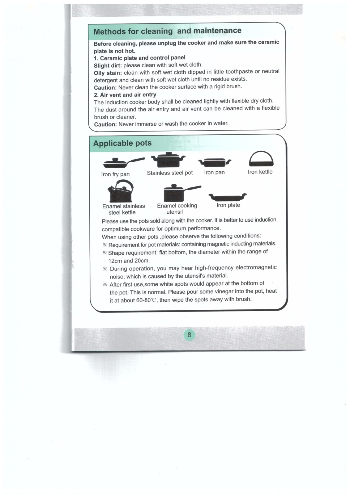 induction cooker user manual pdf   28 images   sharp cy