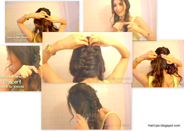 sat4 How to Fishtail Braid Easy Hairstyle Tutorial   Sexy Rock Star Fishtail Side Braid Updo