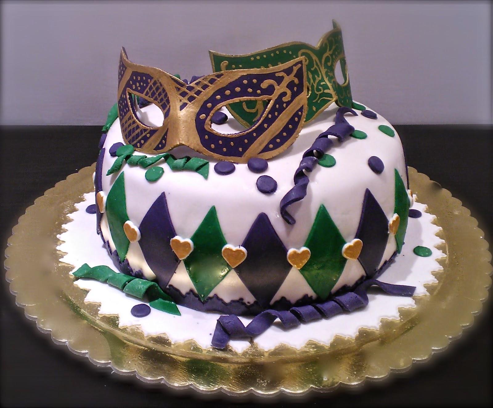 Le torte di patricia torta di carnevale con maschere - Decorazioni per torte di carnevale ...