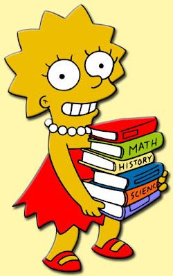 Lisa Simpson, Books, Inteligence, Inteligente, Mentir para parecer inteligente,