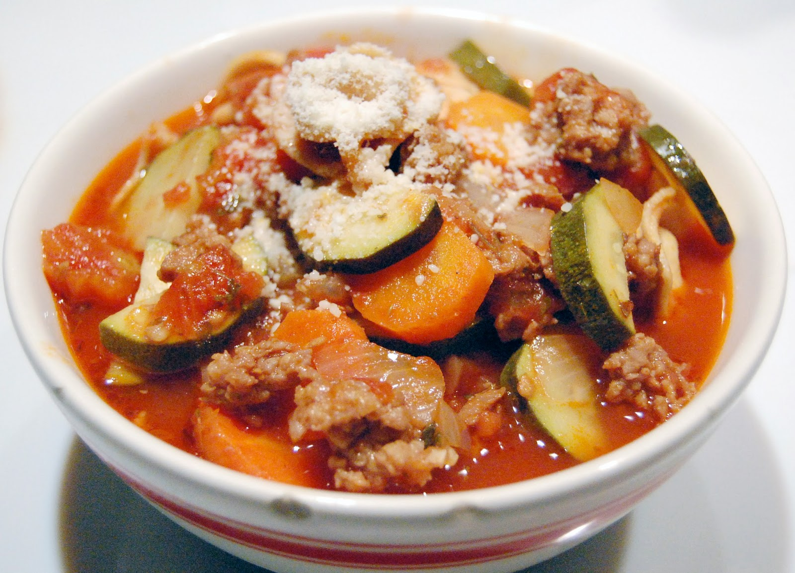 ... Granny: Soup of the Day... Italian Sausage Soup with Tortellini