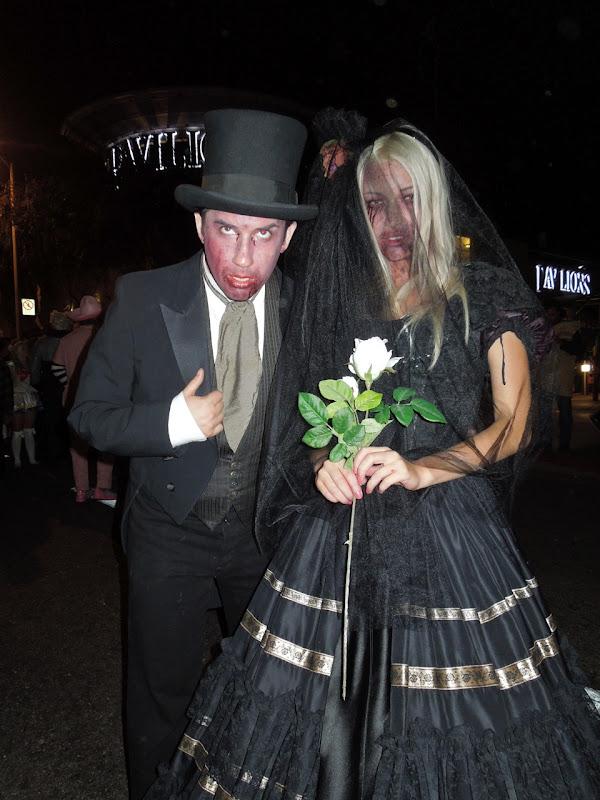 West Hollywood Halloween Carnaval corpse bride groom