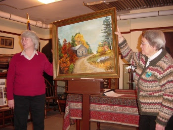 Meeting House Painting Donated to the New Durham Historical Society