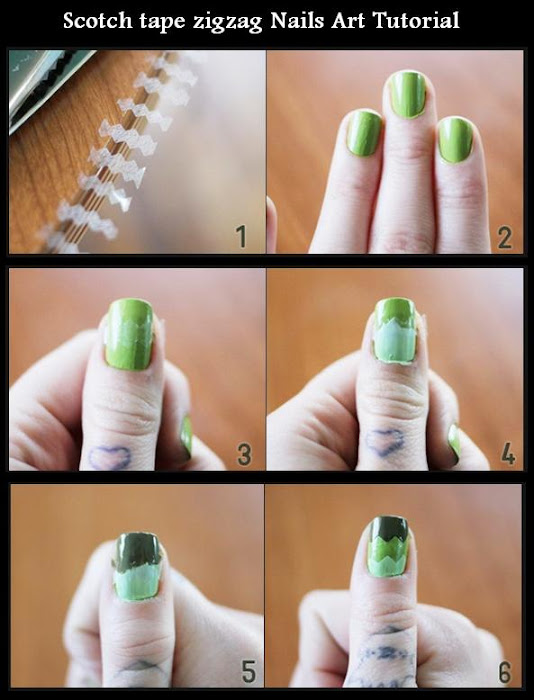 Nail Art Zig Zag Tape The Best Inspiration For Design And Color Of