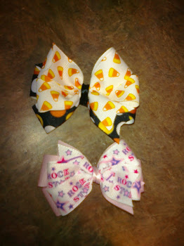 Candy Corn and Rockstar Bow