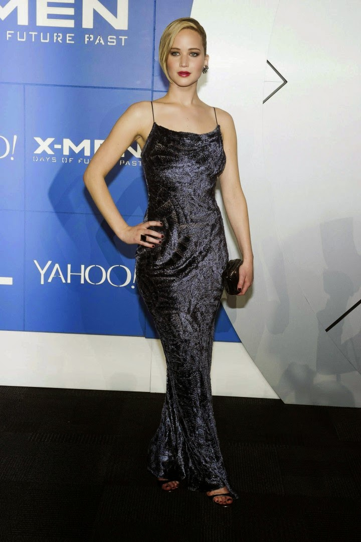 Jennifer Lawrence In A Slinky Jason Wu Dress At The X Men