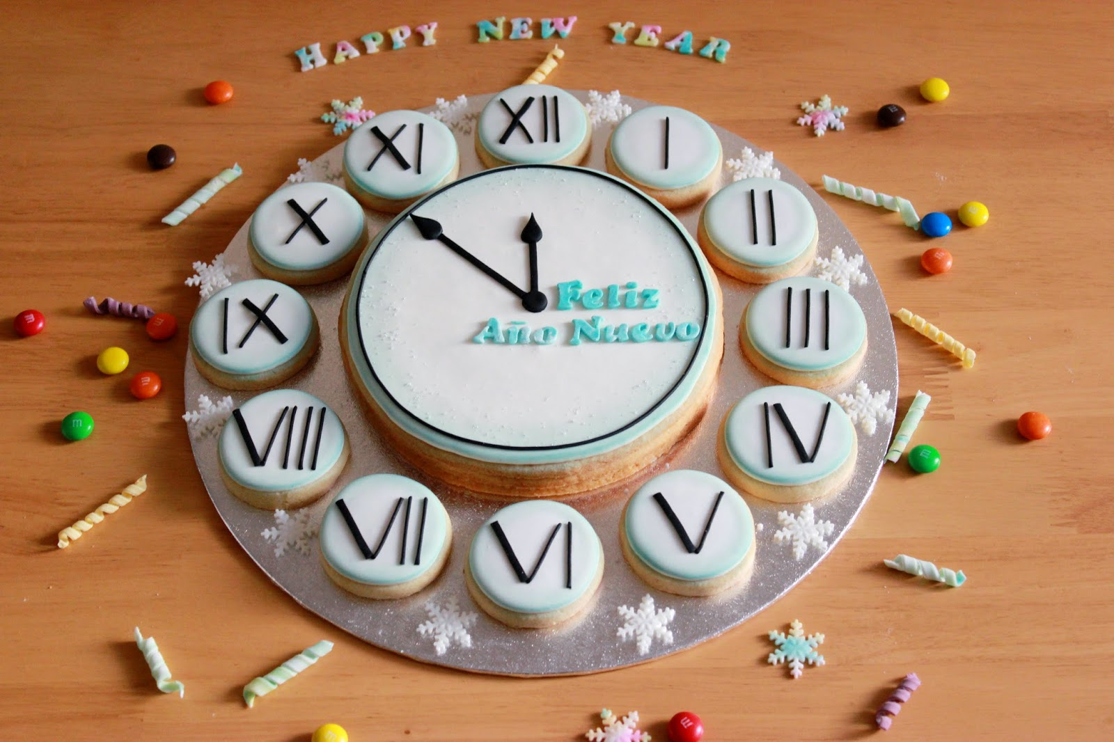 Kiara S Cakes Galletas Decoradas Feliz Ano Nuevo Happy New Year