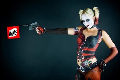 Harley Queen Bodypainting