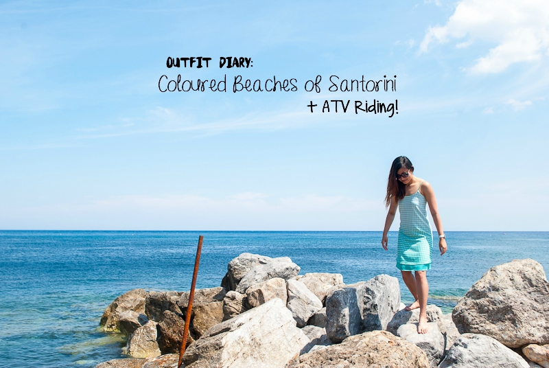 image header of outfit diary in santorini with ATV riding experience