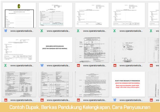 Contoh Dupak dan Berkas Pendukung Untuk Kelengkapan Ditambah Cara Penyusunan