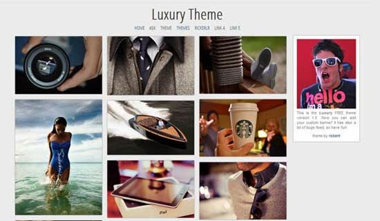 Luxury Tumblr Theme