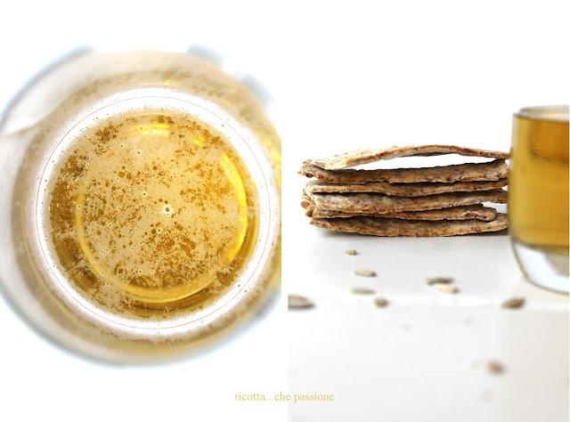 crackers alla birra e semi
