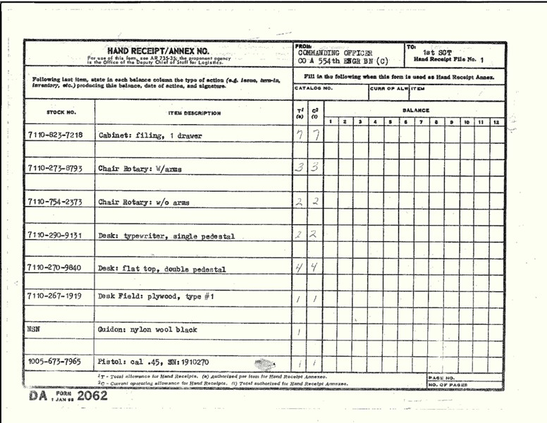 army inventory form why is army inventory form so