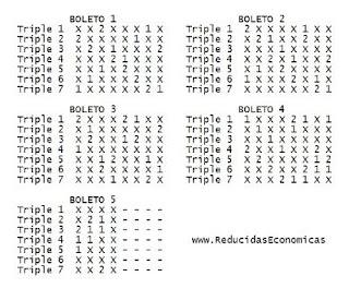 Quiniela Reducida de 7 Triples al 13 por 36 Apuestas