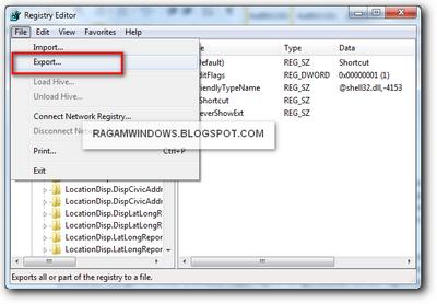 Backup Registry editor