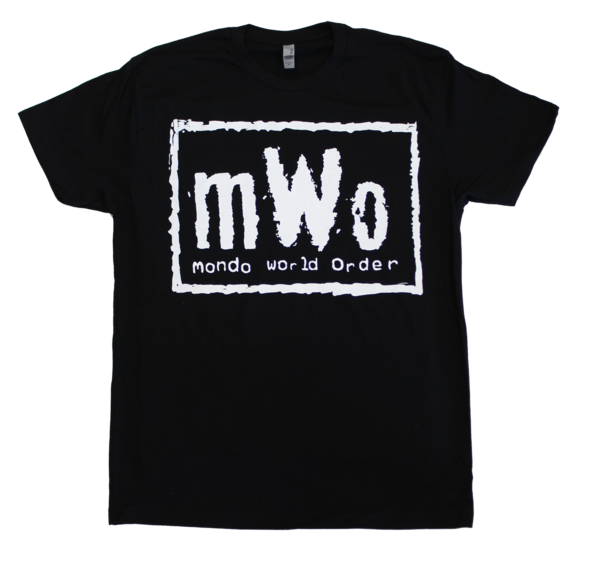 "Black and White Hollywood ""mWo"" Mondo x WCW T-Shirt"