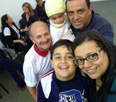 Manoel, Lucas, Heloisa, Luzi e Fabiana