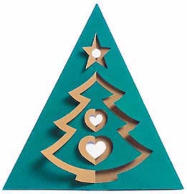 Объемные открытки елочка на новый год своими руками