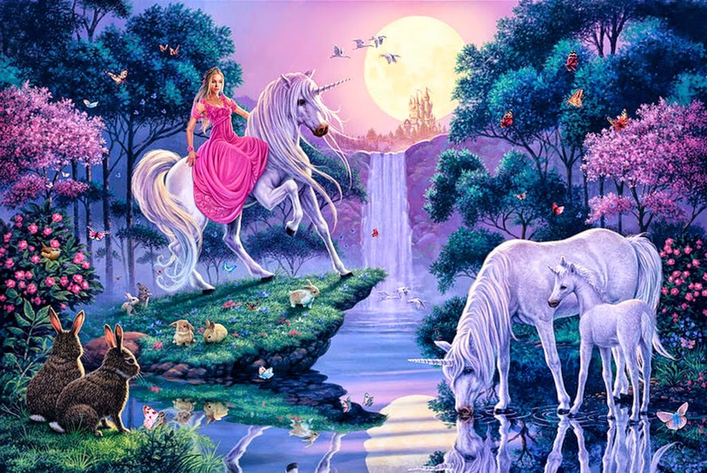 mujer-con-unicornio-pintado-al-oleo