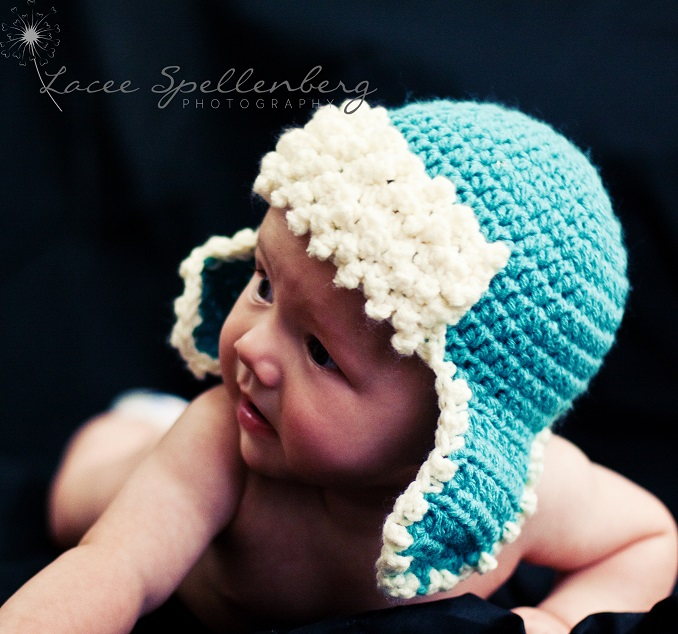 Free Crochet Pattern Newborn Aviator Hat : Crochet Dreamz: Aviator Hat Crochet Pattern, Newborn Baby ...