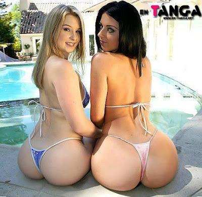 2 hermosos culos en tangas