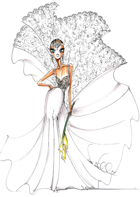 DOWN THE AISLE: Fall 2013 bridal gown sketches