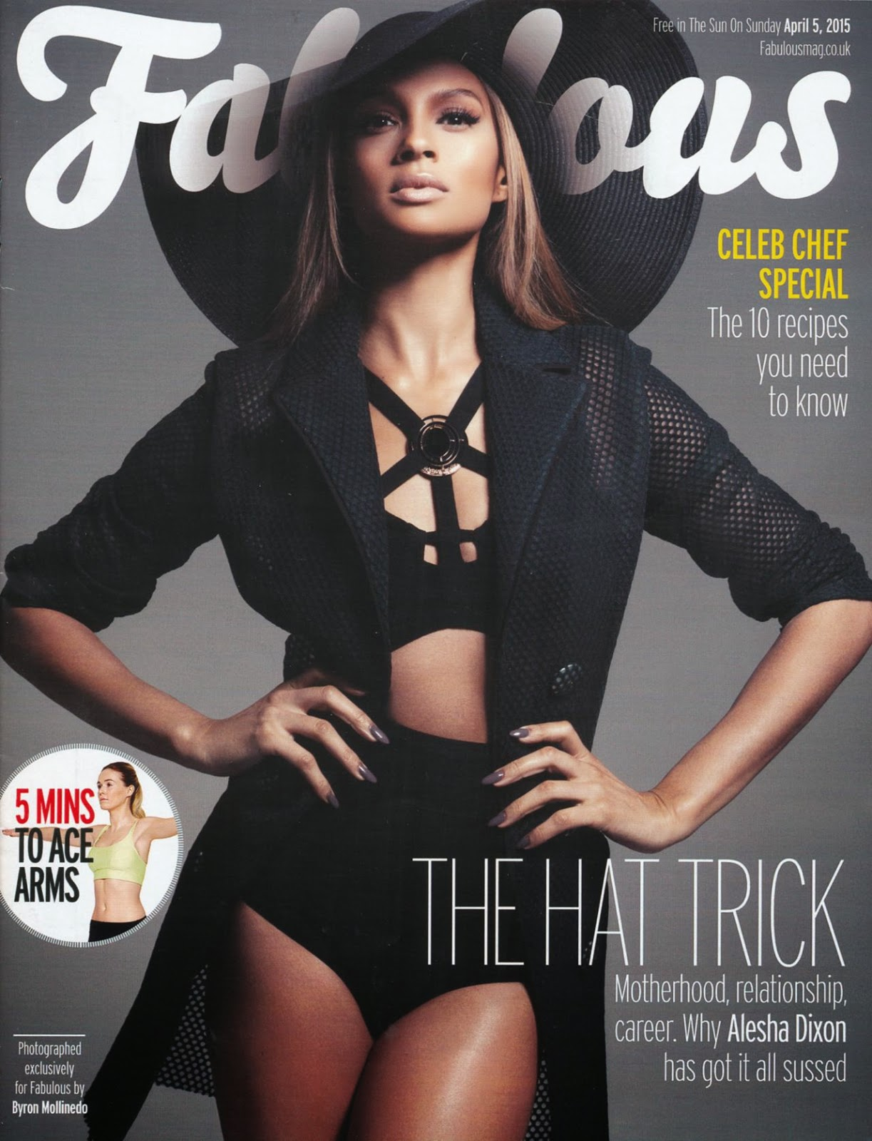 Singer @ Alesha Dixon - Fabulous Magazine, April  2015