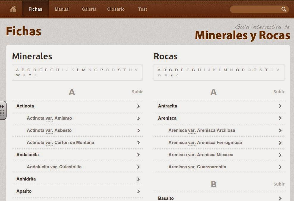 FICHAS DE MINERALES