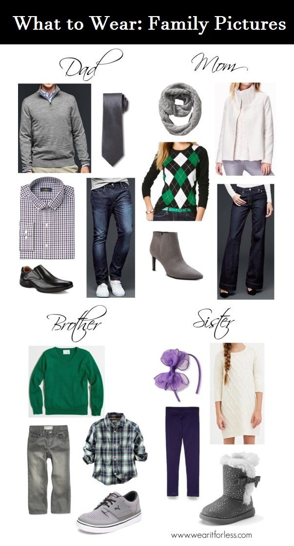 Outfit inspiration for family photos, what to wear for family pictures, family of 4, outfit inspiration