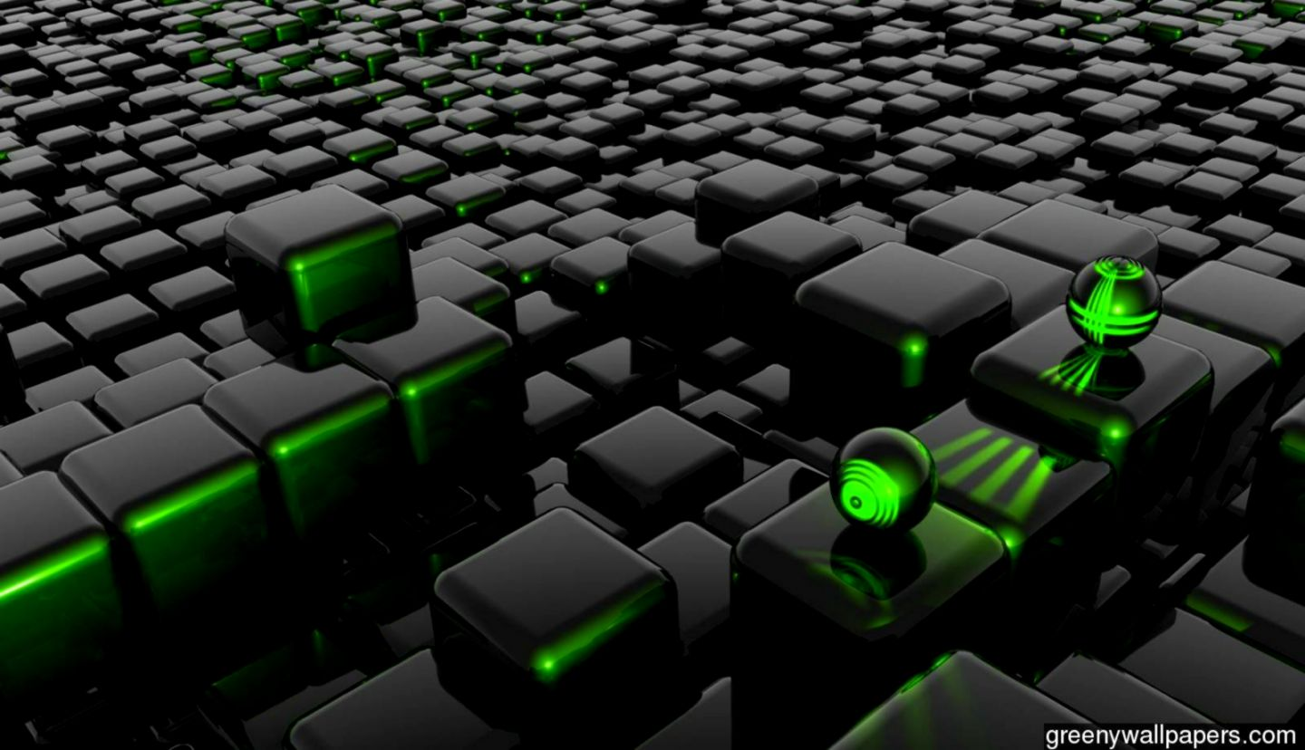 3d abstract green black wallpapers wallpaper background hd