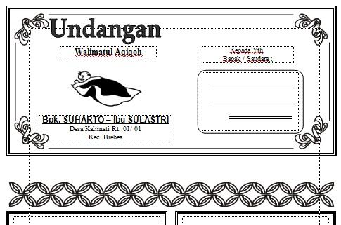 Undangan Walimatul Aqiqoh   Download Undangan Gratis Word