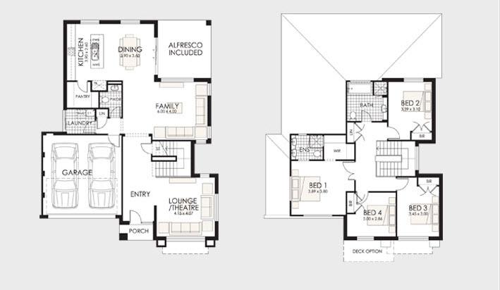 Planos de casas de dos pisos construye hogar for Niveles en planos arquitectonicos