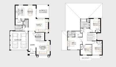 diseo de plano de casa de dos pisos con terreno pequeo