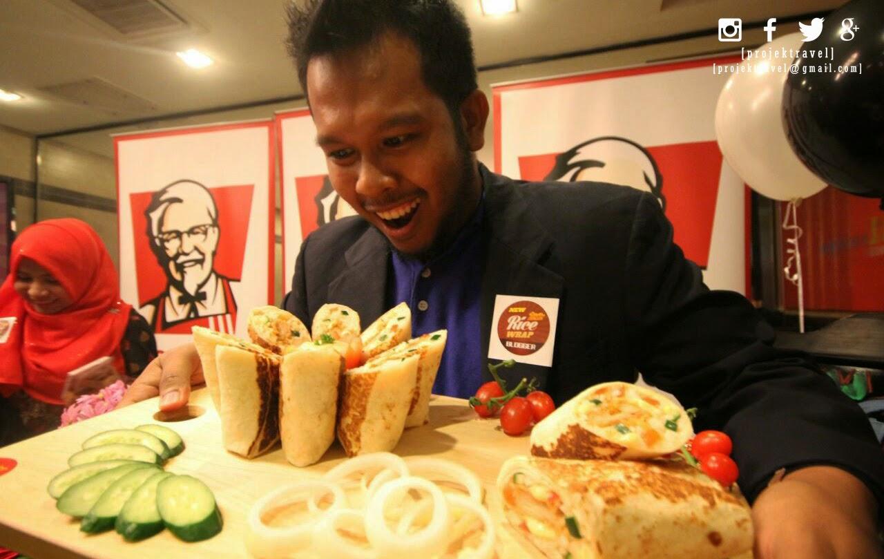 Hidangan KFC ZINGER RICE WRAP