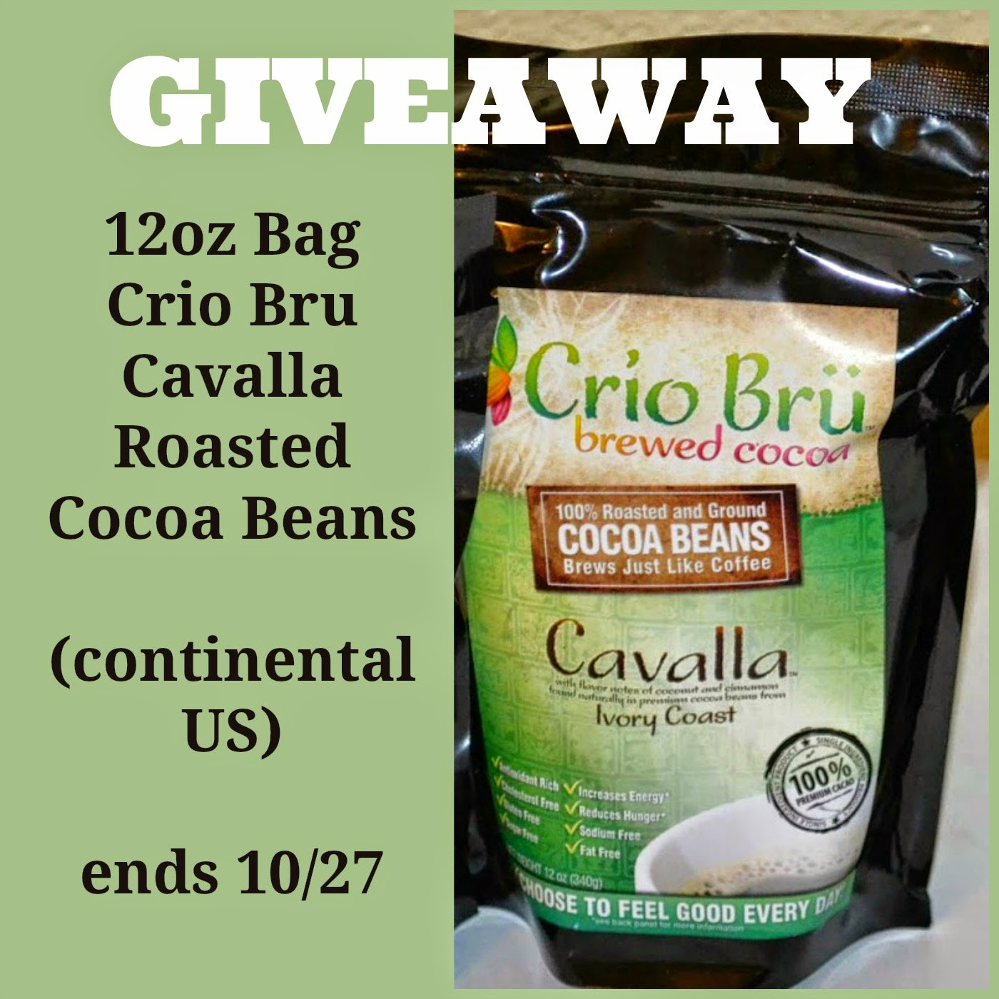 CRIO BRU CAVALLA Roasted Cocoa Beans