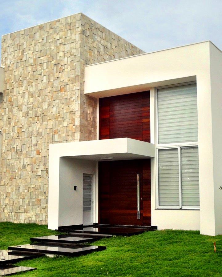 24 fachadas de casas modernas tipos de revestimentos for Fachadas casas modernas